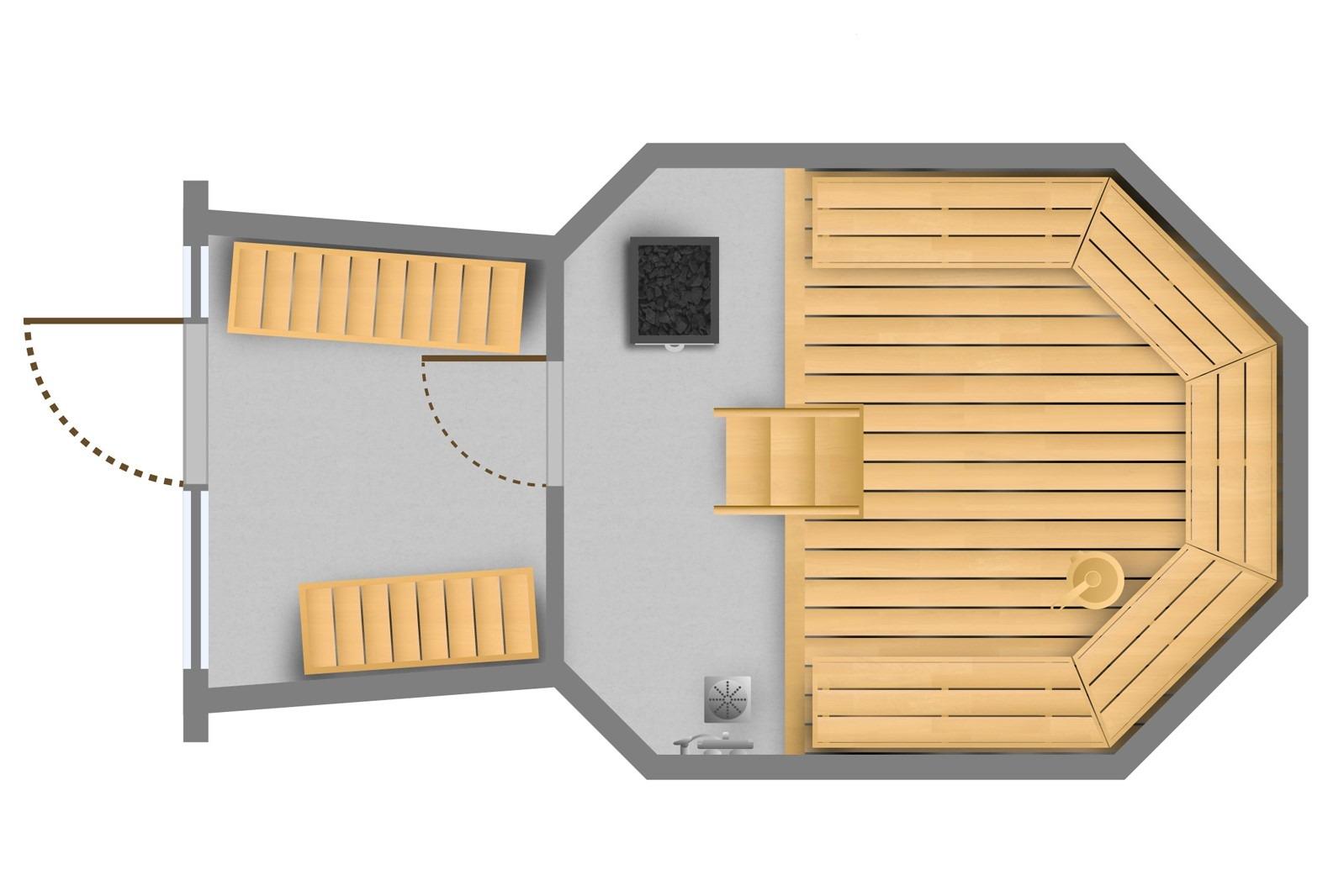 Keko-Sauna puukiukaalla