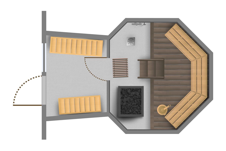 Keko-Sauna savukiukaalla